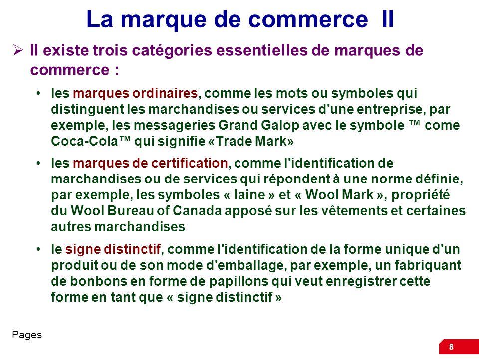 La marque de commerce II