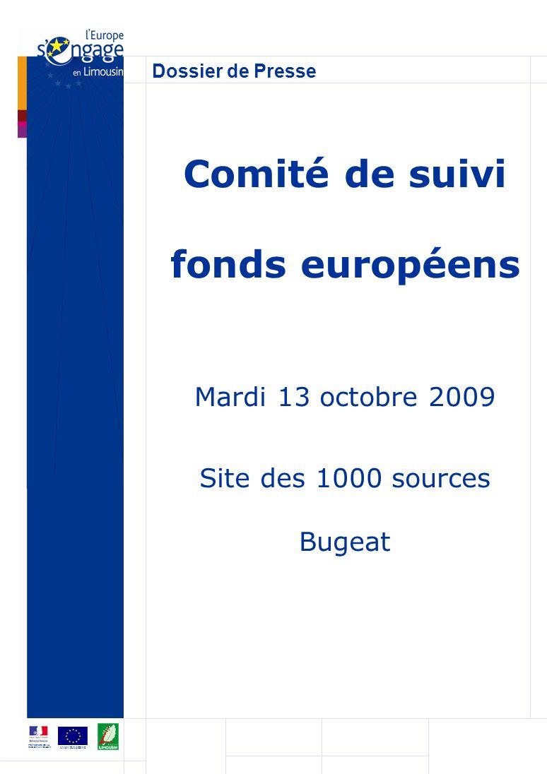 Comité de suivi fonds européens