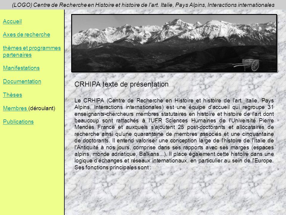 CRHIPA texte de présentation