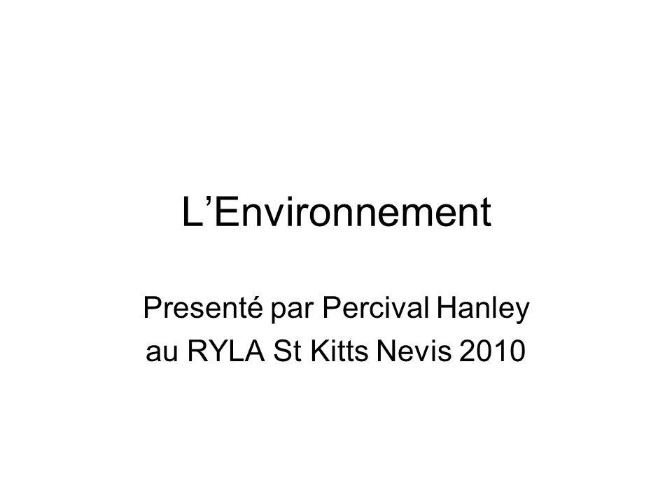Presenté par Percival Hanley au RYLA St Kitts Nevis 2010