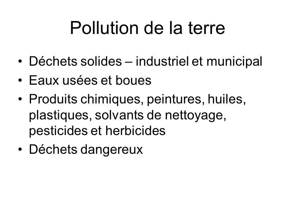 Pollution de la terre Déchets solides – industriel et municipal