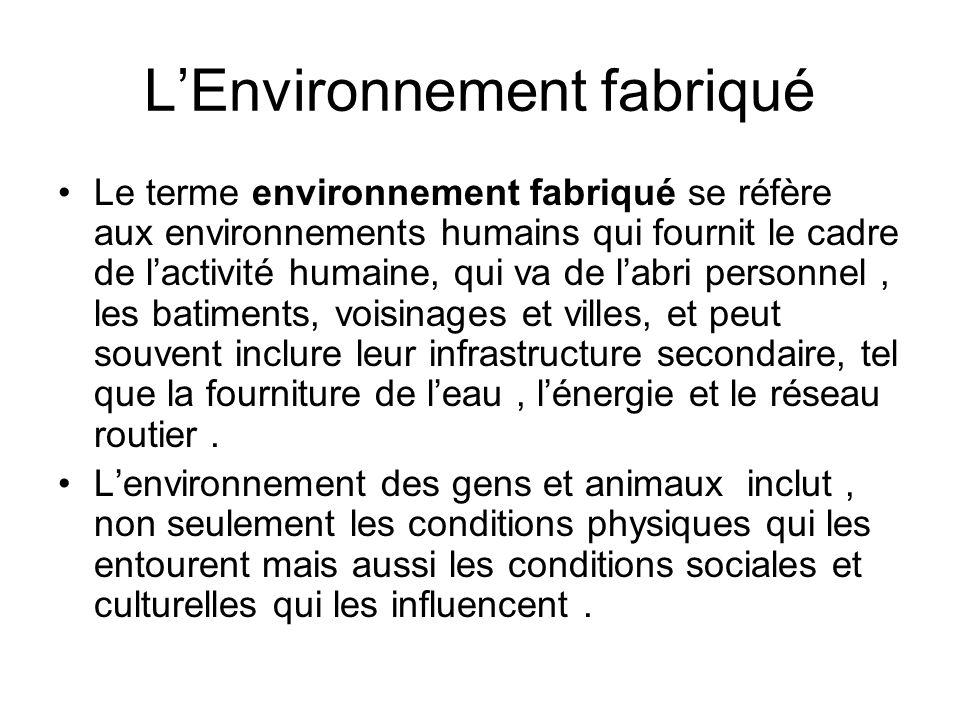 L'Environnement fabriqué