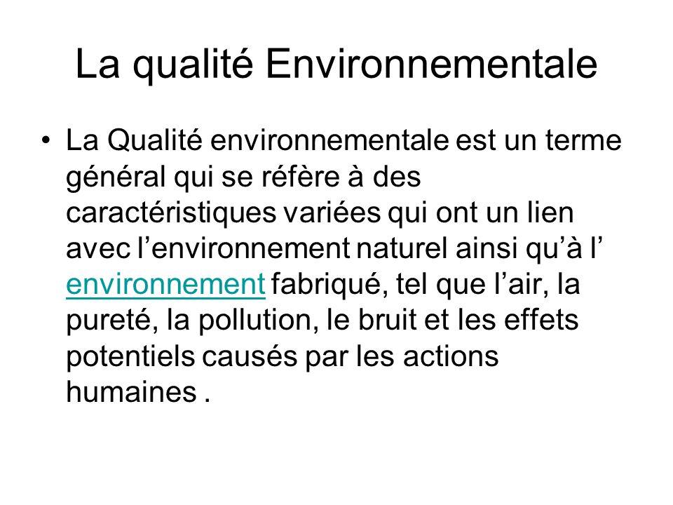 La qualité Environnementale