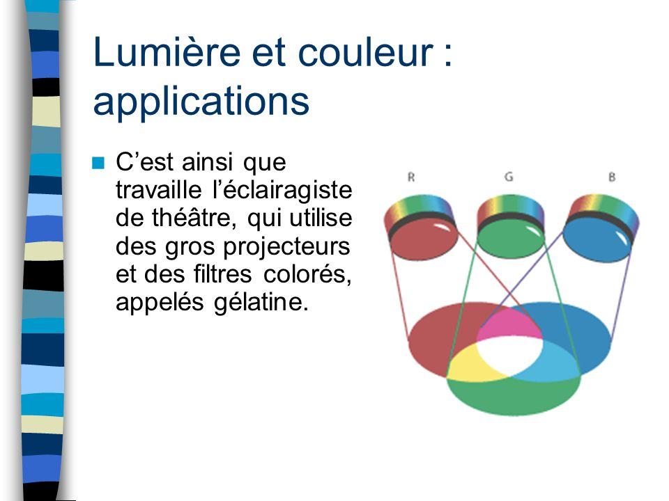 Lumière et couleur : applications