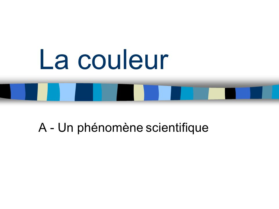 A - Un phénomène scientifique