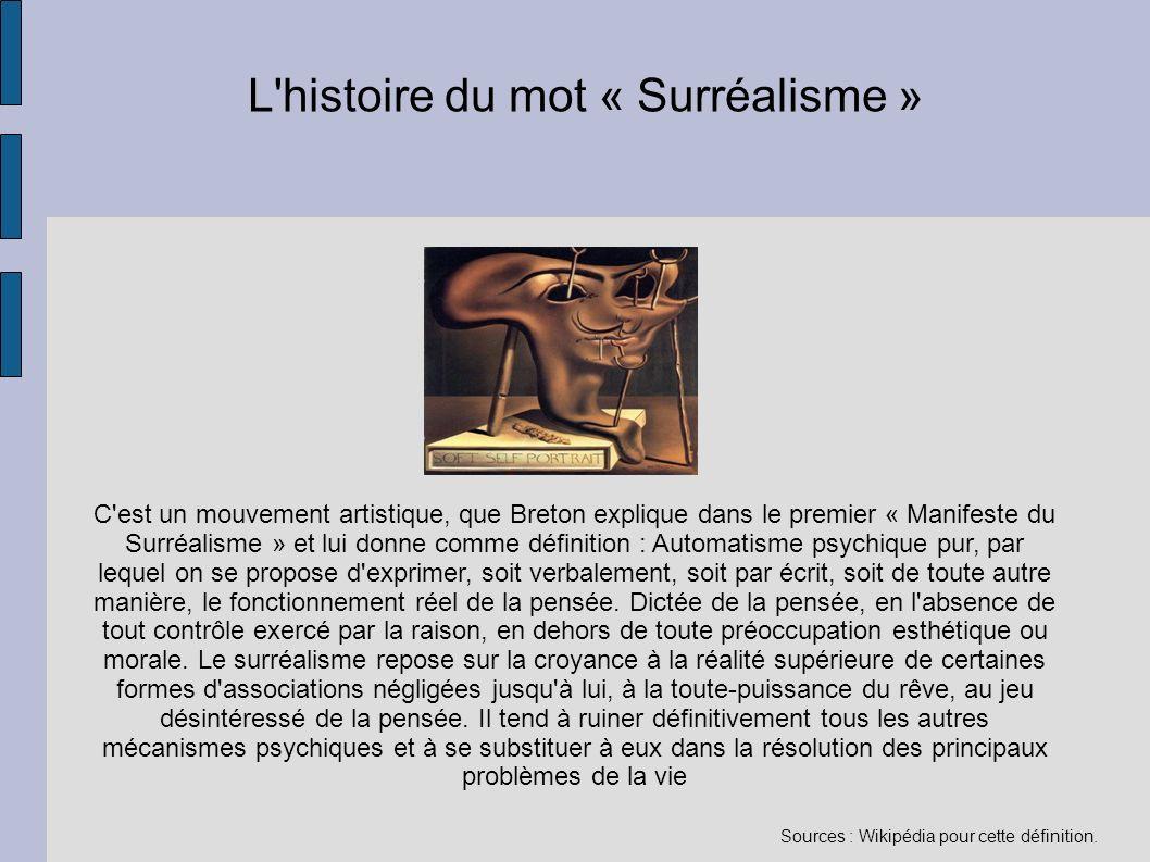 L histoire du mot « Surréalisme »