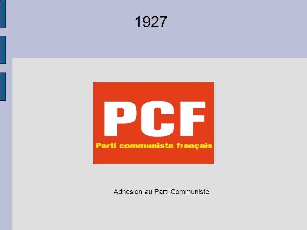 Adhésion au Parti Communiste