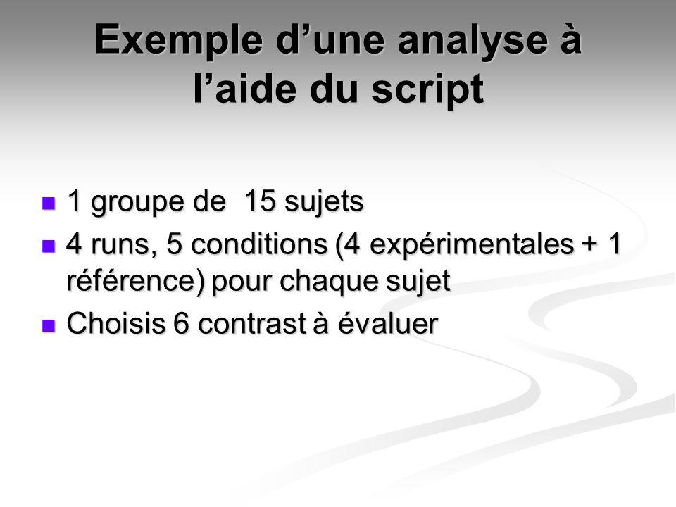 Exemple d'une analyse à l'aide du script