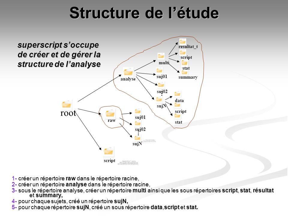 Structure de l'étude root