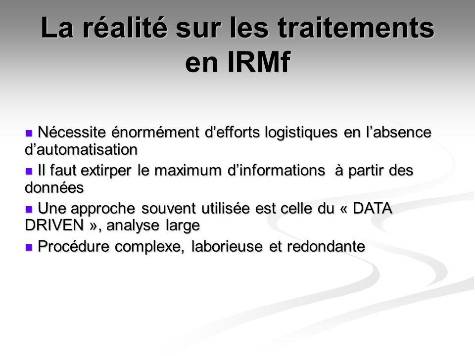 La réalité sur les traitements en IRMf