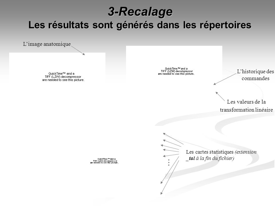 3-Recalage Les résultats sont générés dans les répertoires