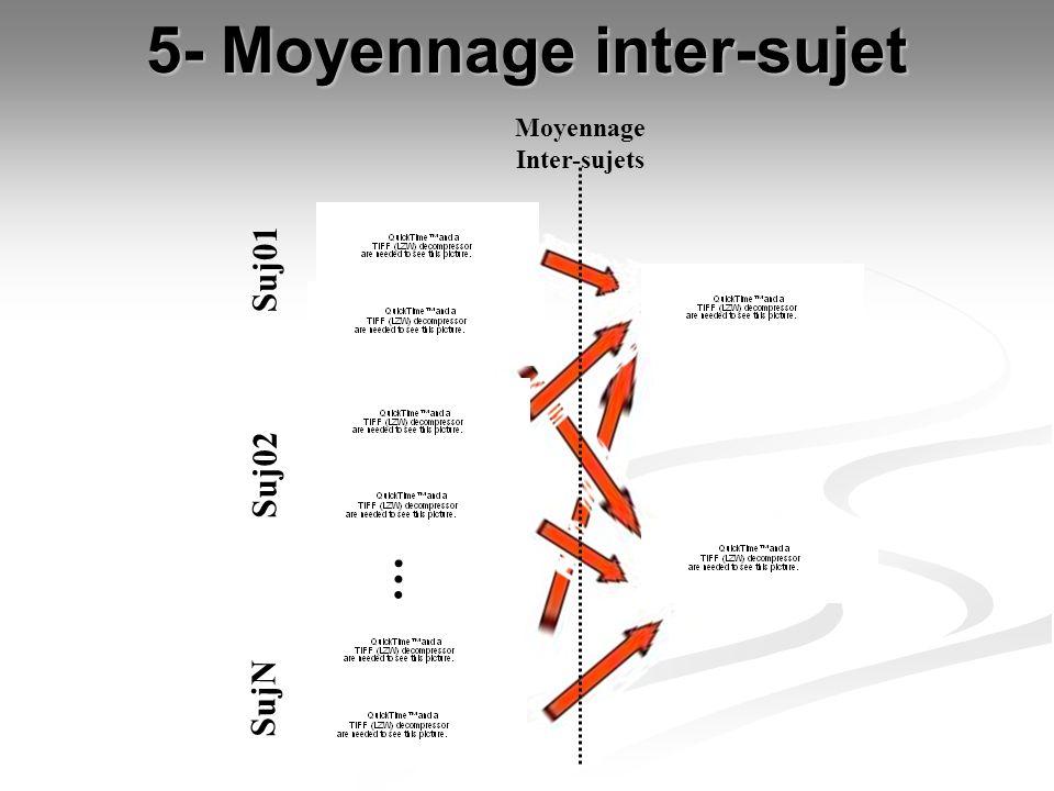 5- Moyennage inter-sujet