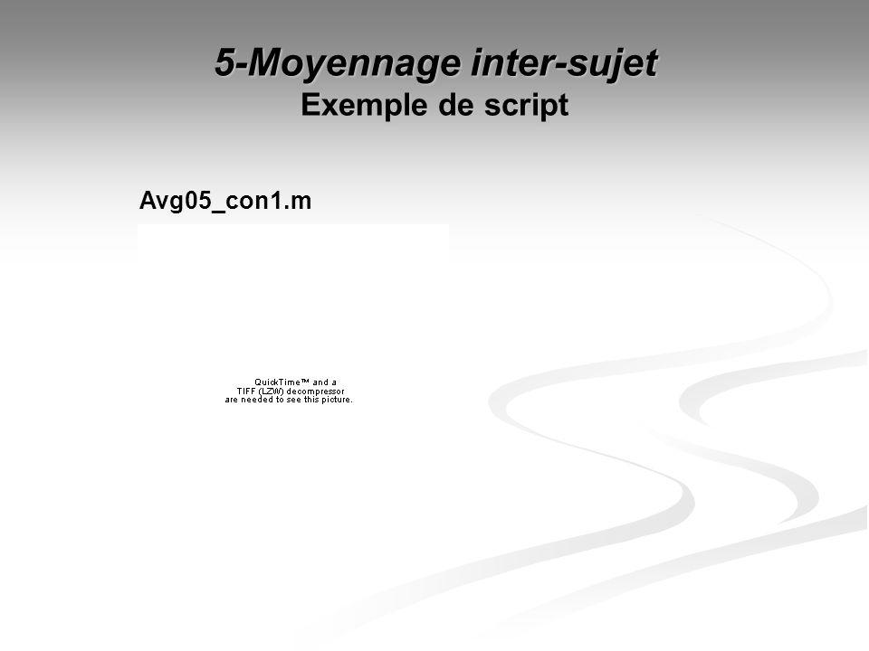5-Moyennage inter-sujet Exemple de script