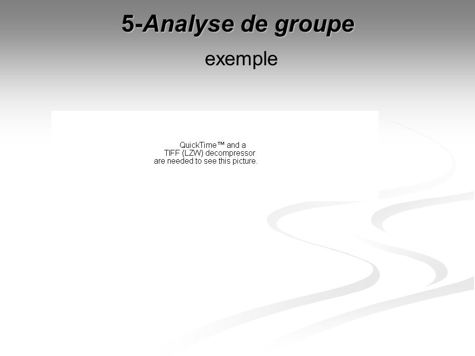 5-Analyse de groupe exemple