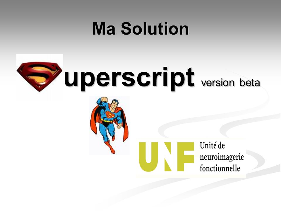 uperscript version beta