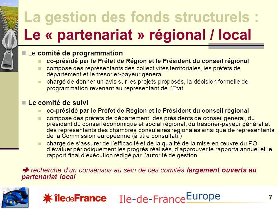 La gestion des fonds structurels : Le « partenariat » régional / local