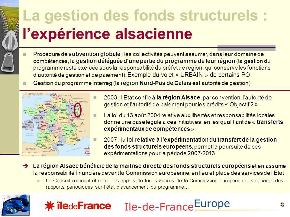 La gestion des fonds structurels : l'expérience alsacienne
