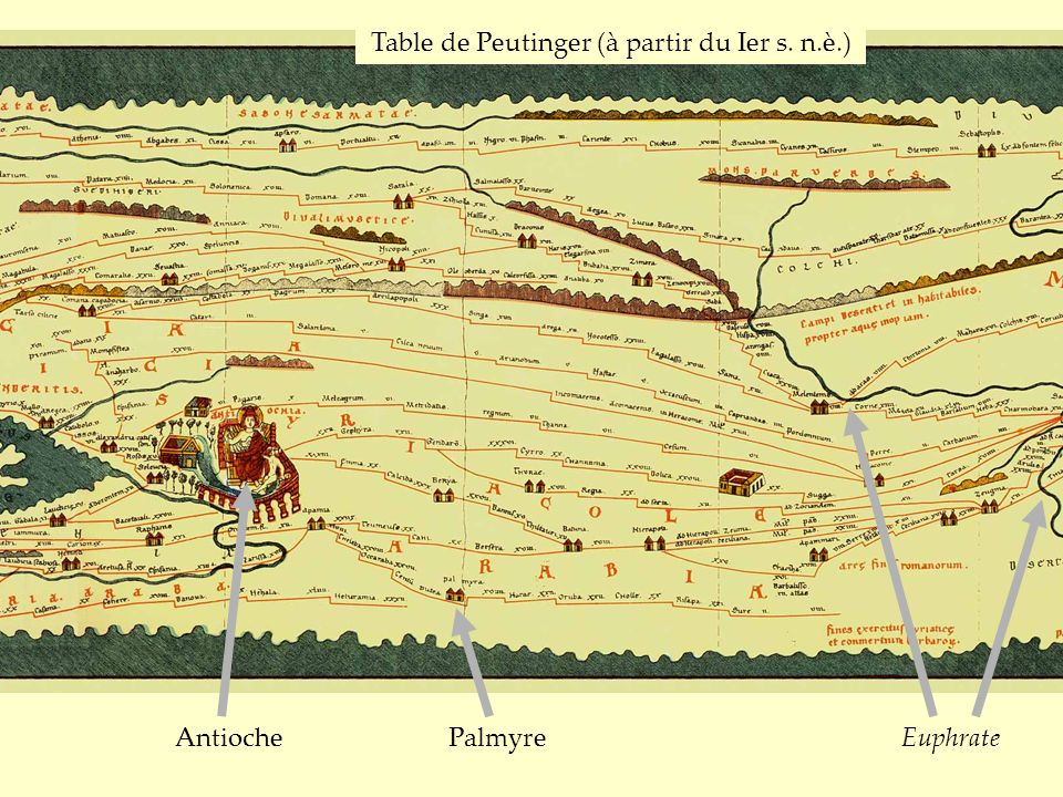 Table de Peutinger (à partir du Ier s. n.è.)