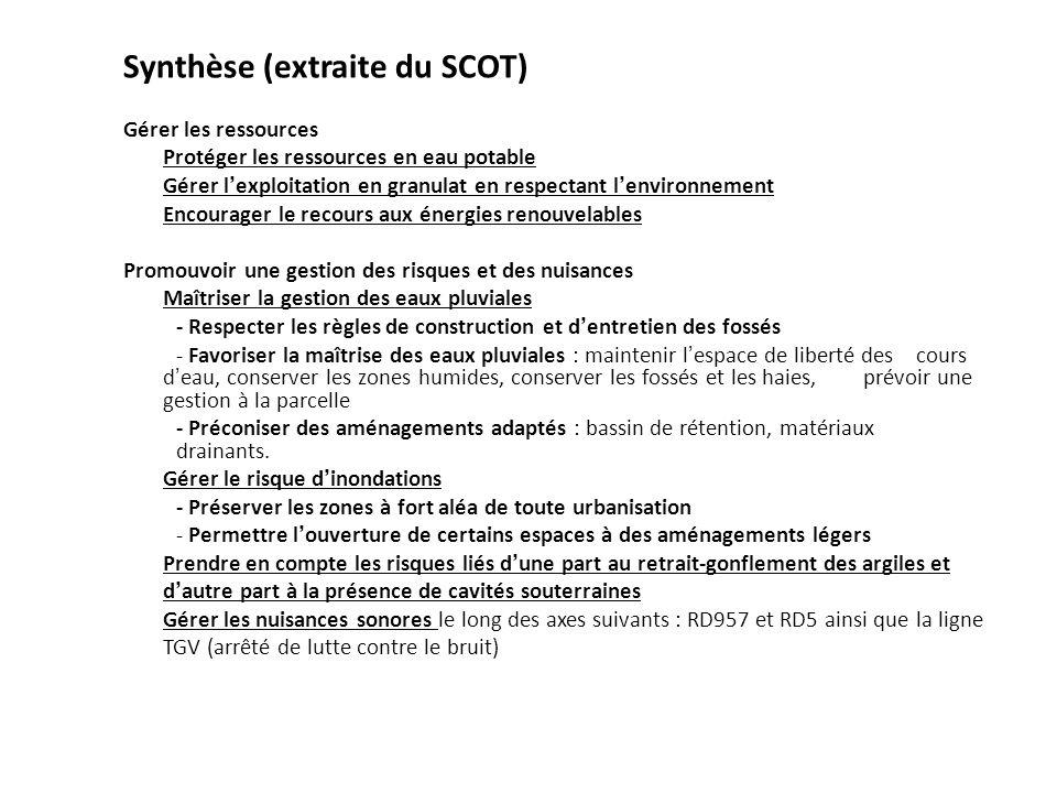 Synthèse (extraite du SCOT)