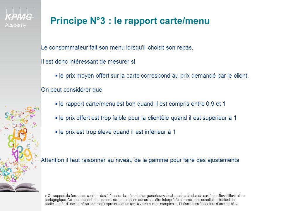 Principe N°3 : le rapport carte/menu exemple