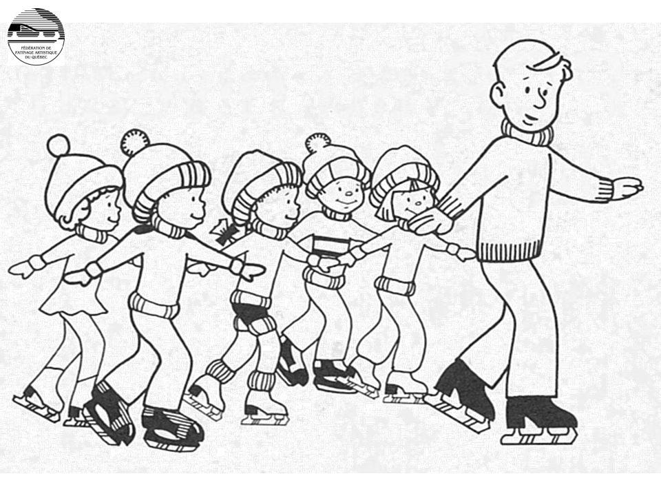 L'entraîneur et ses patineurs