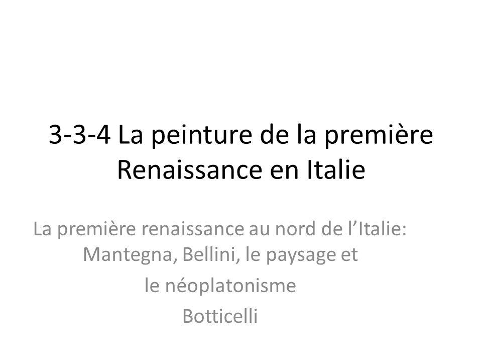 3-3-4 La peinture de la première Renaissance en Italie