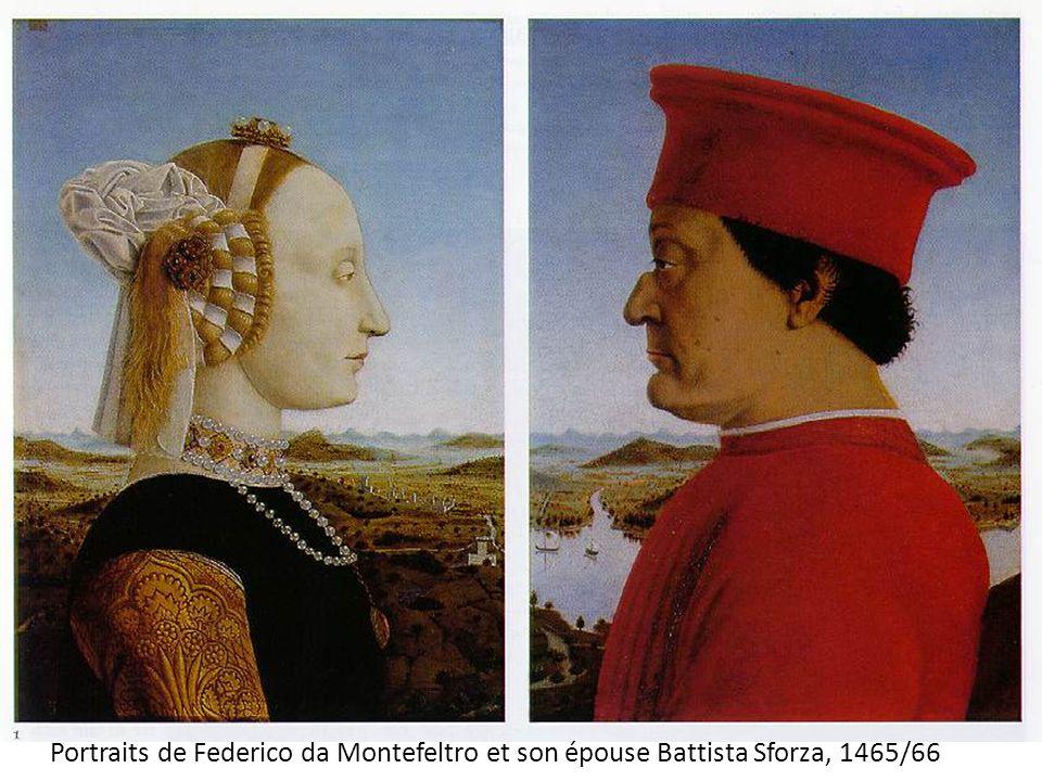 Portraits de Federico da Montefeltro et son épouse Battista Sforza, 1465/66