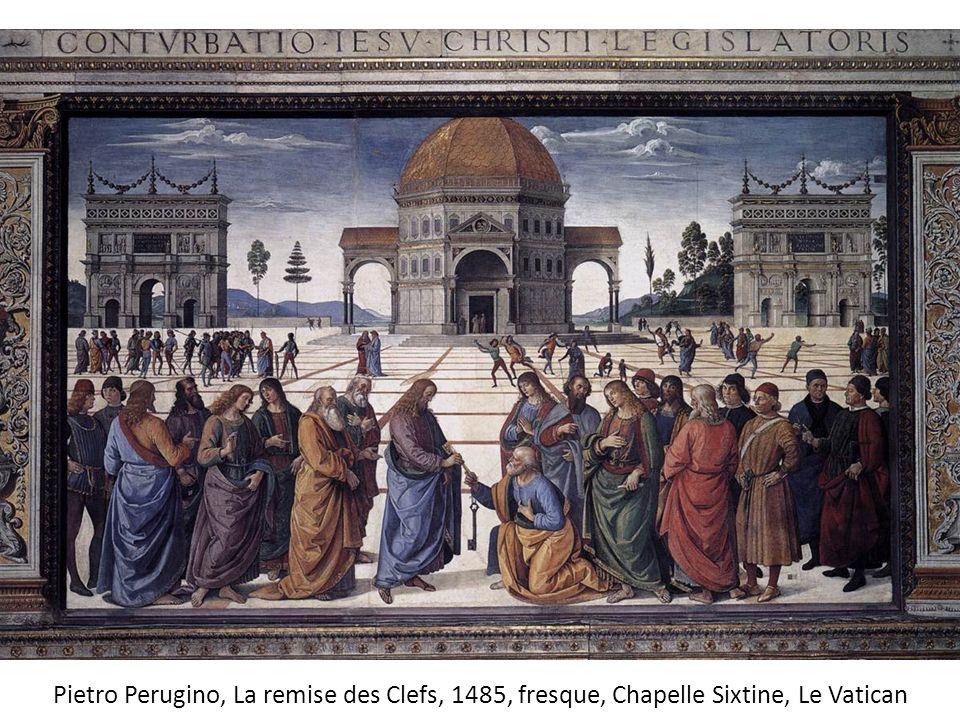 Pietro Perugino, La remise des Clefs, 1485, fresque, Chapelle Sixtine, Le Vatican