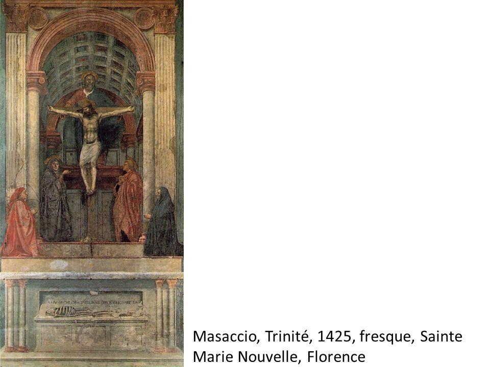 Masaccio, Trinité, 1425, fresque, Sainte Marie Nouvelle, Florence