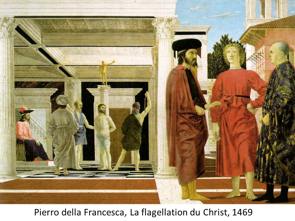 Pierro della Francesca, La flagellation du Christ, 1469