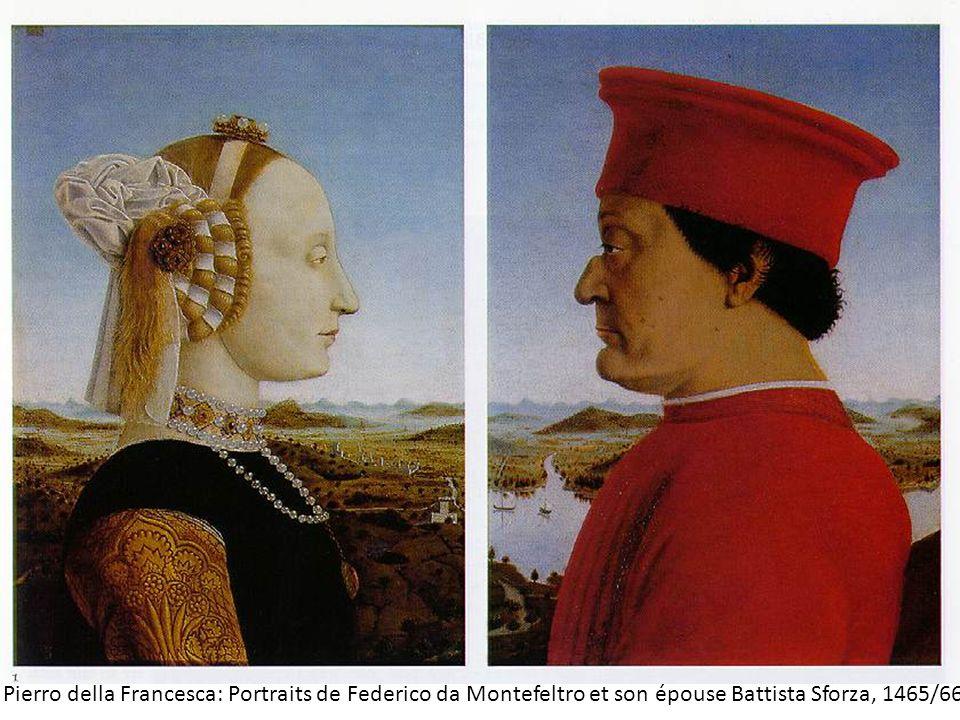 Pierro della Francesca: Portraits de Federico da Montefeltro et son épouse Battista Sforza, 1465/66