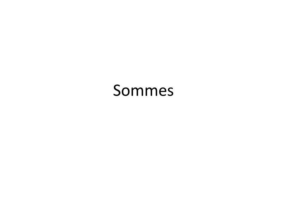 Sommes