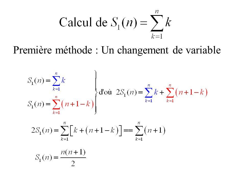 Première méthode : Un changement de variable