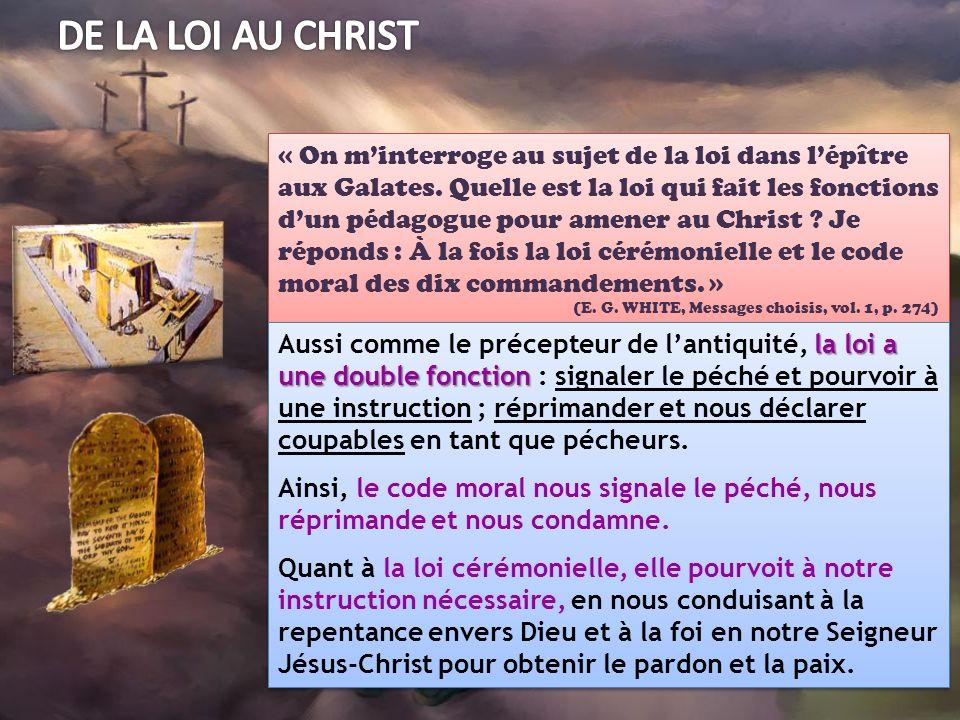 DE LA LOI AU CHRIST