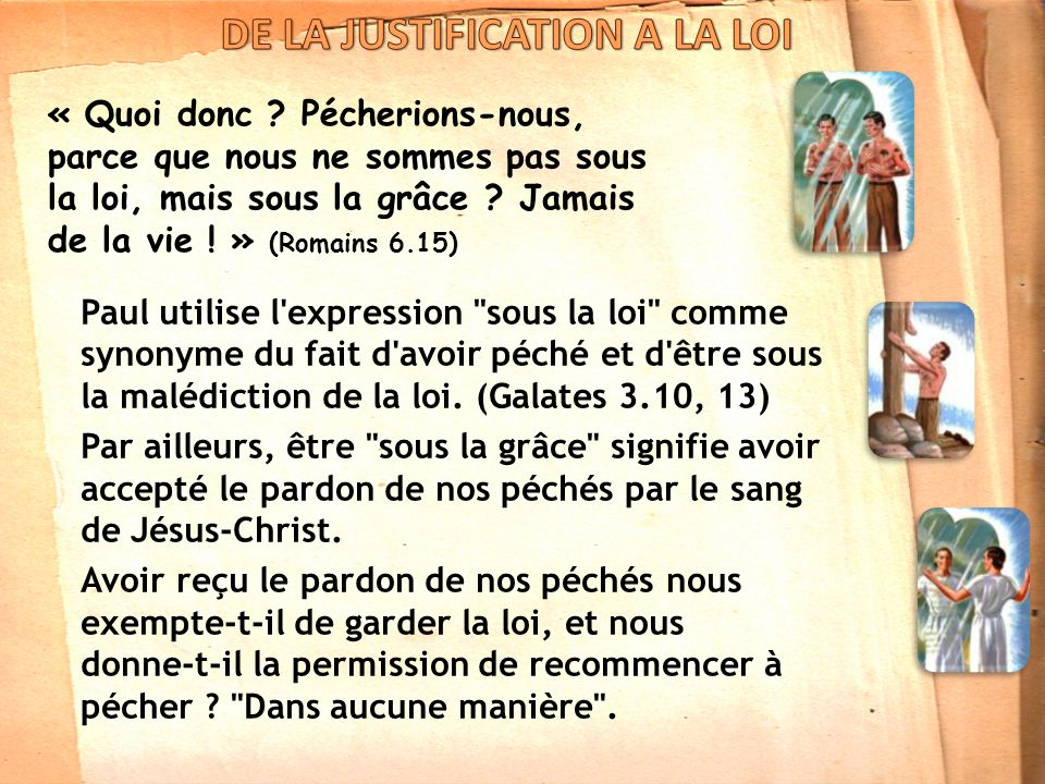 DE LA JUSTIFICATION A LA LOI