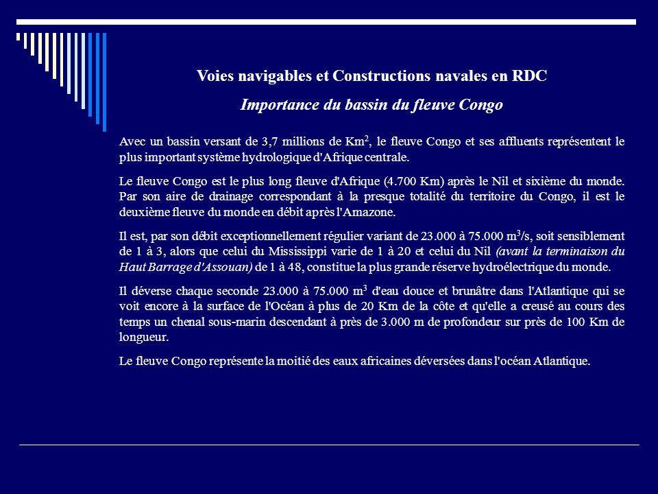 Voies navigables et Constructions navales en RDC