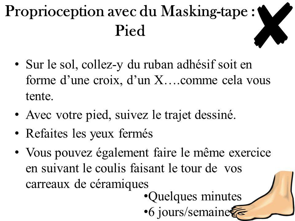 Proprioception avec du Masking-tape : Pied