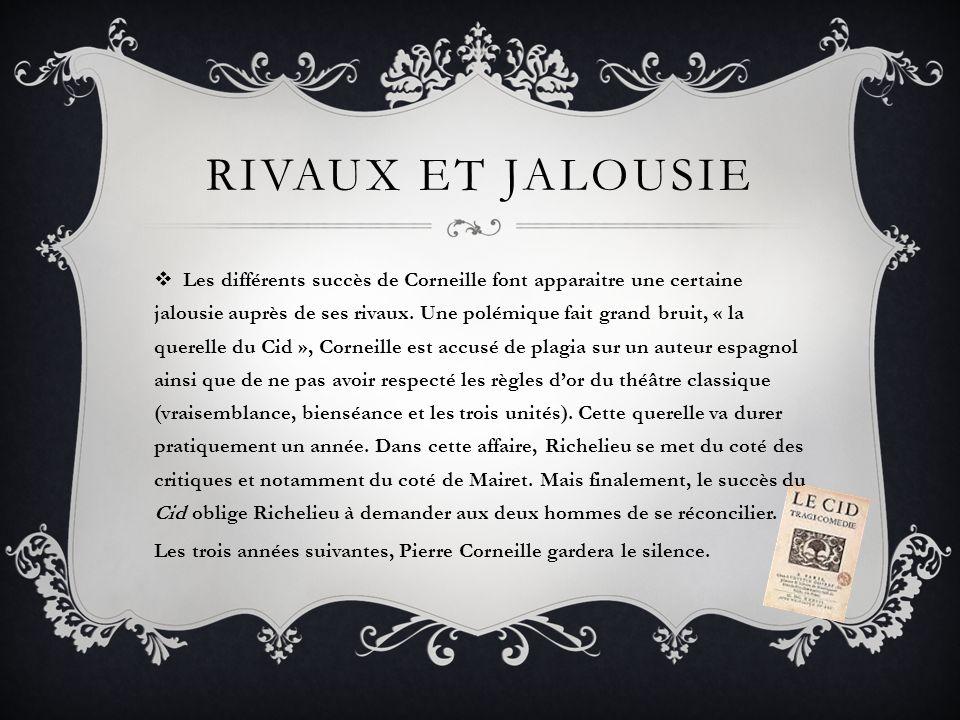 Rivaux et jalousie