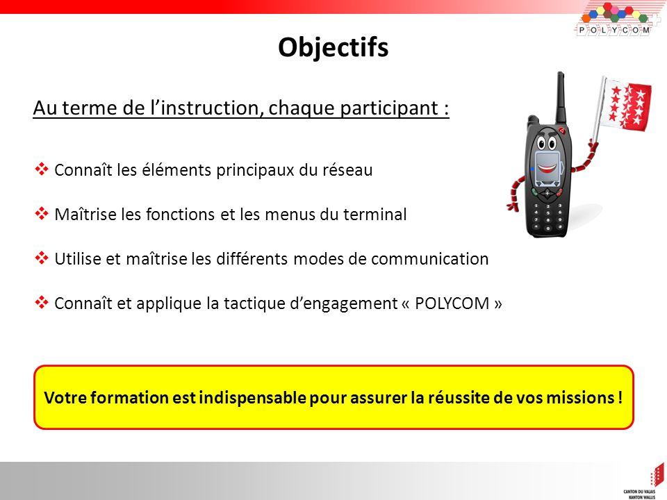Objectifs Au terme de l'instruction, chaque participant :