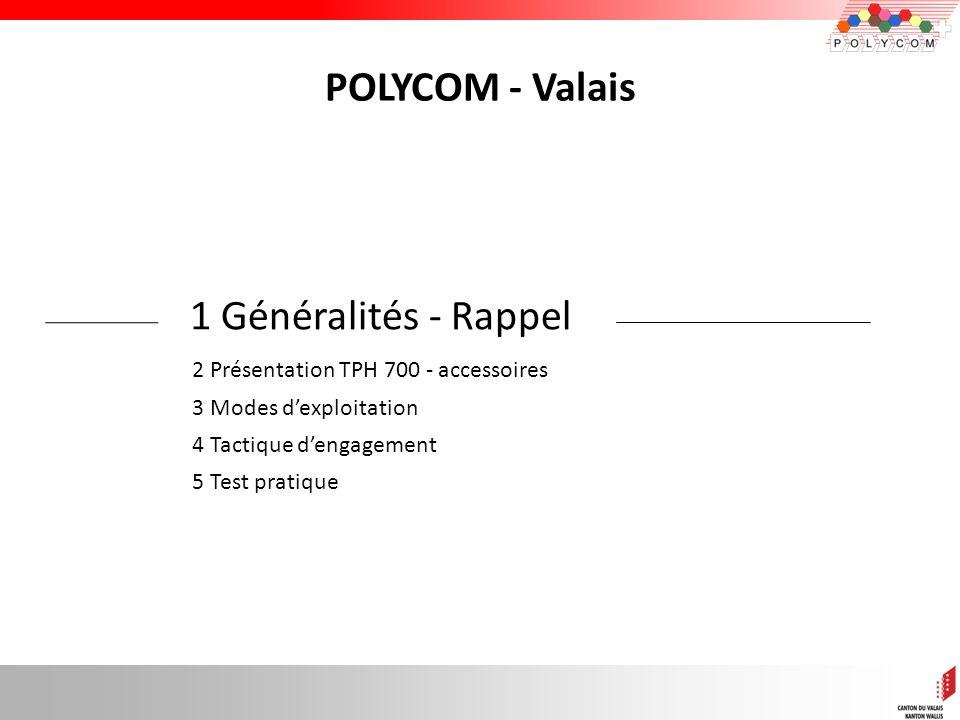 POLYCOM - Valais 1 Généralités - Rappel