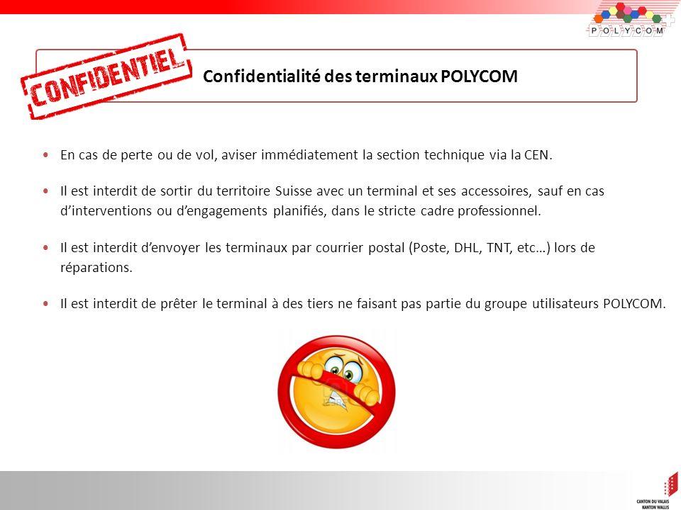 Confidentialité des terminaux POLYCOM
