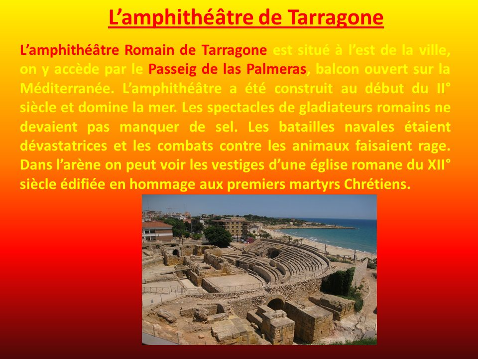 L'amphithéâtre de Tarragone