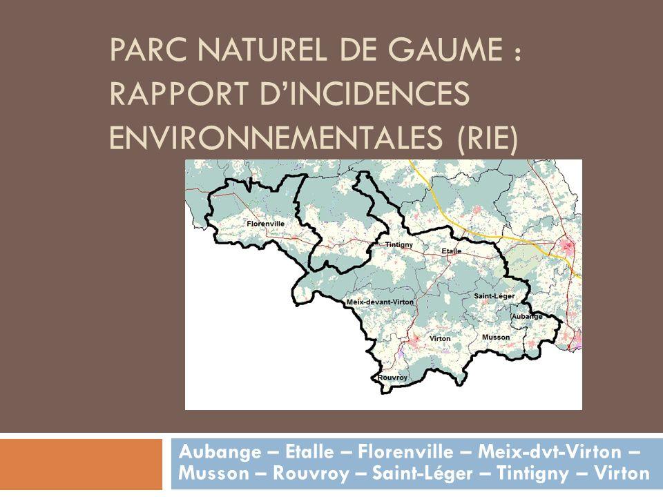 Parc naturel de Gaume : Rapport d'Incidences environnementales (RIE)