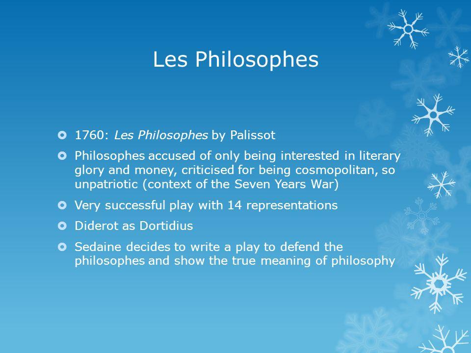 Les Philosophes 1760: Les Philosophes by Palissot