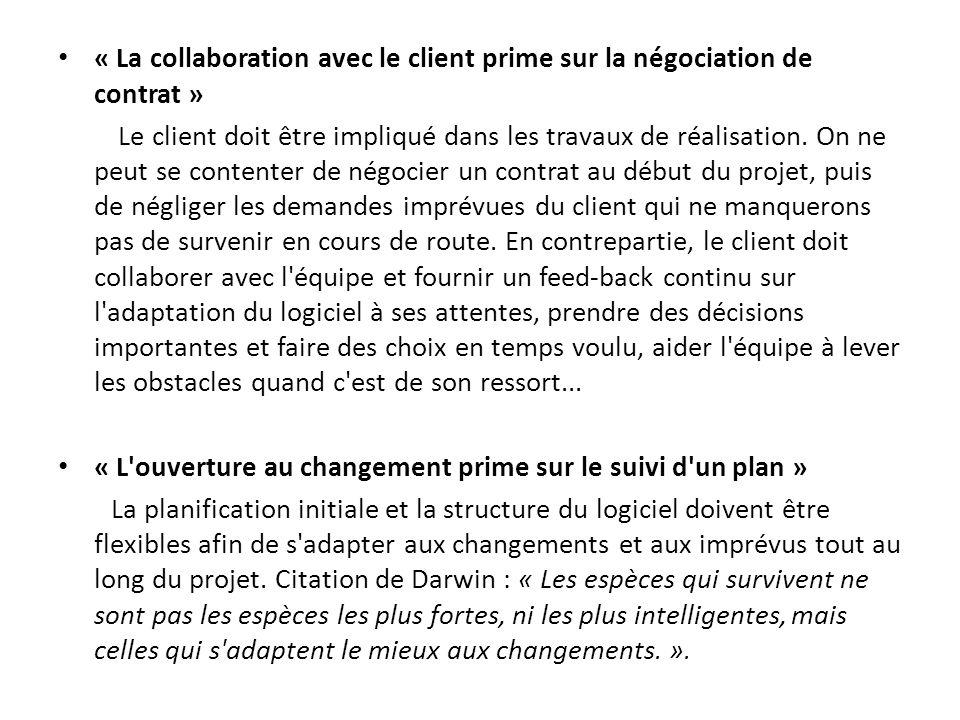 « La collaboration avec le client prime sur la négociation de contrat »