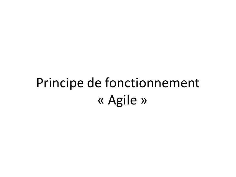 Principe de fonctionnement « Agile »