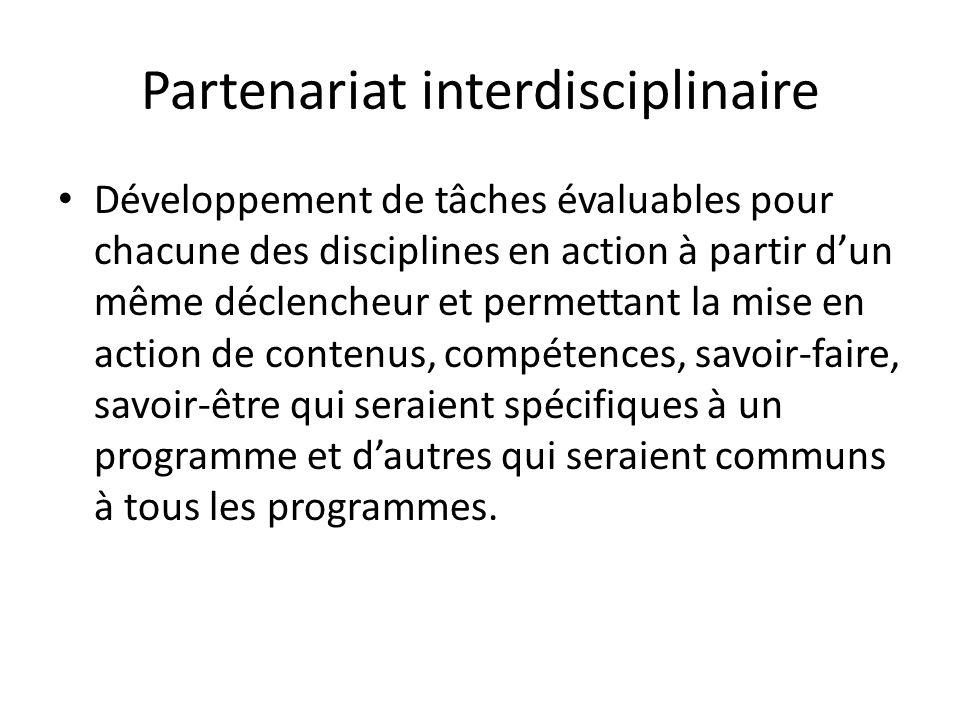 Partenariat interdisciplinaire