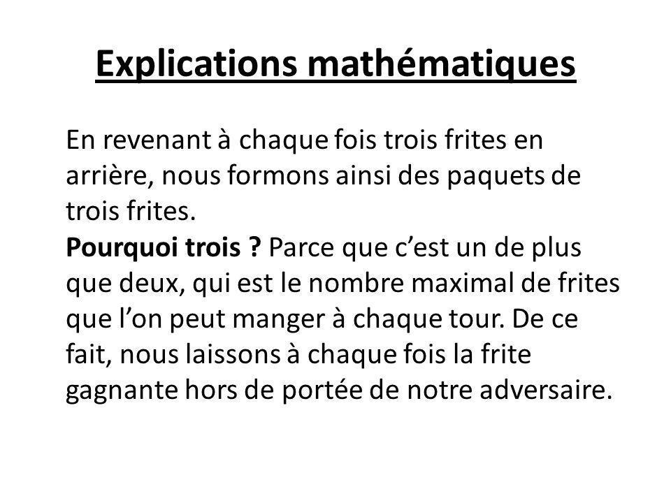 Explications mathématiques