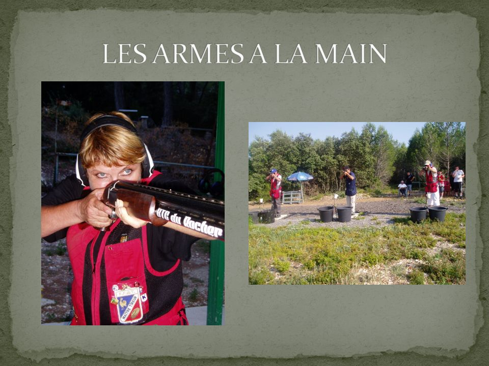 LES ARMES A LA MAIN