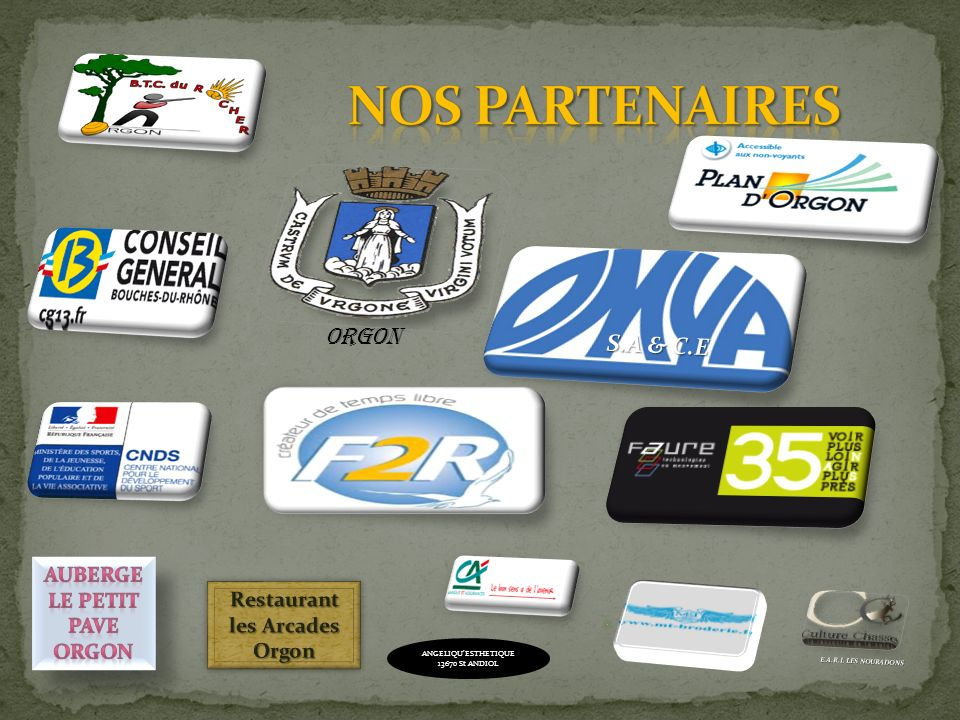 NOS Partenaires ORGON S.A & C.E Auberge le petit Pave Orgon Restaurant